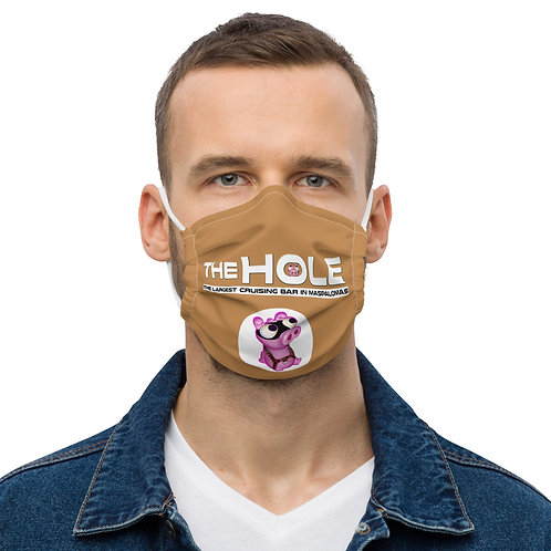Mask The Hole caramel logo white