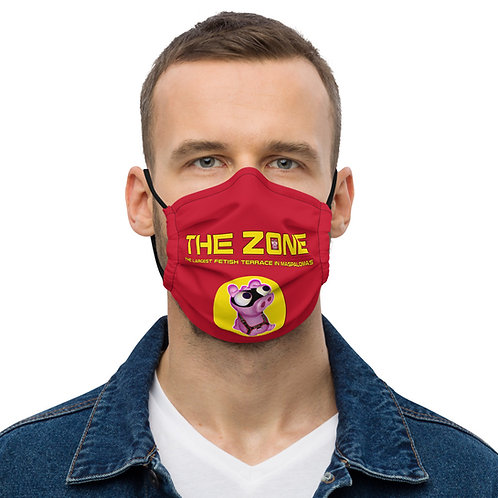 Mask The Zone red logo yellow