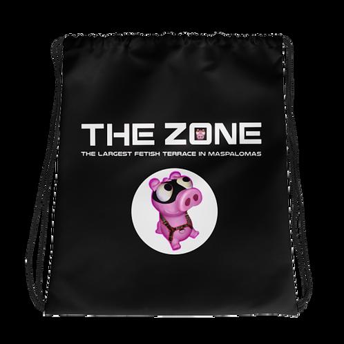Drawstring bag The Zone black logo white