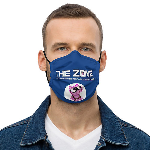 Mask The Zone blue logo white