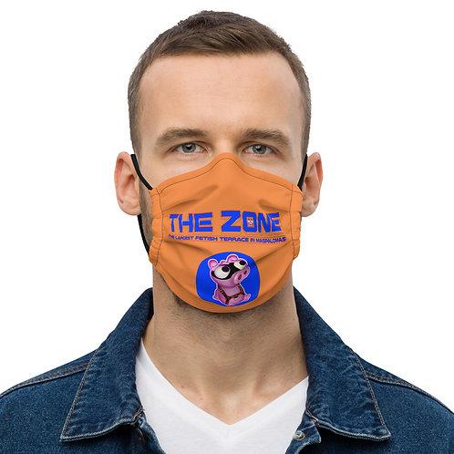 Mask The Zone orange logo blue