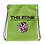 Thumbnail: Drawstring bag green logo camo dark green