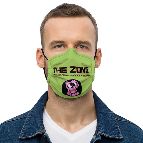 Mask The Zone light green logo black