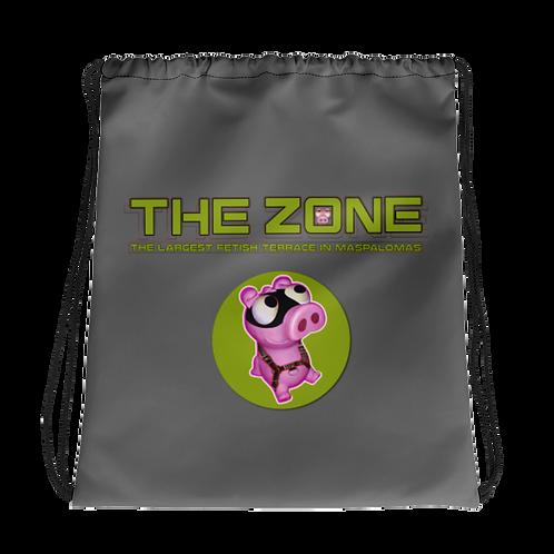 Kordelzugtasche The Zone graues Logo Camo
