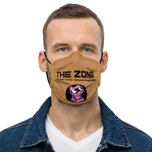 Mask The Zone caramel logo black