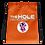 Thumbnail: Drawstring bag orange logo white