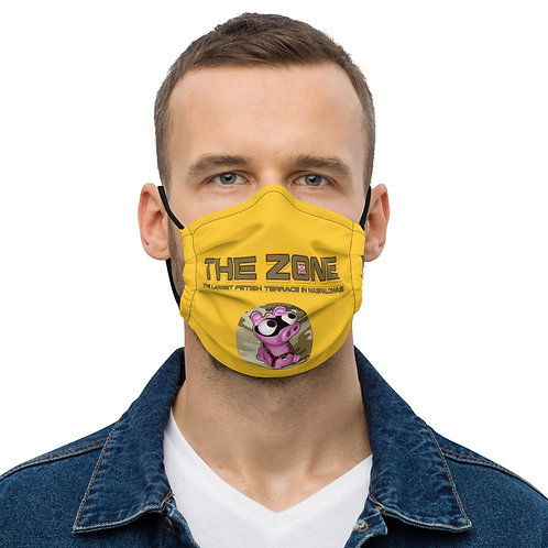Mask The Zone yellow logo camo