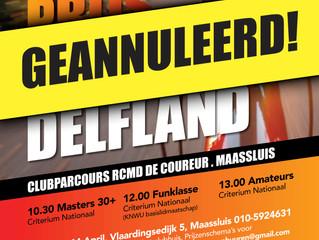 GP Midden-Delfland helaas geannuleerd
