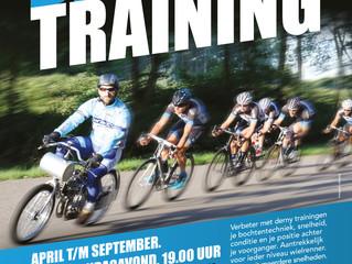 Derny-training, iedere maandag vanaf 9 april weer van start.