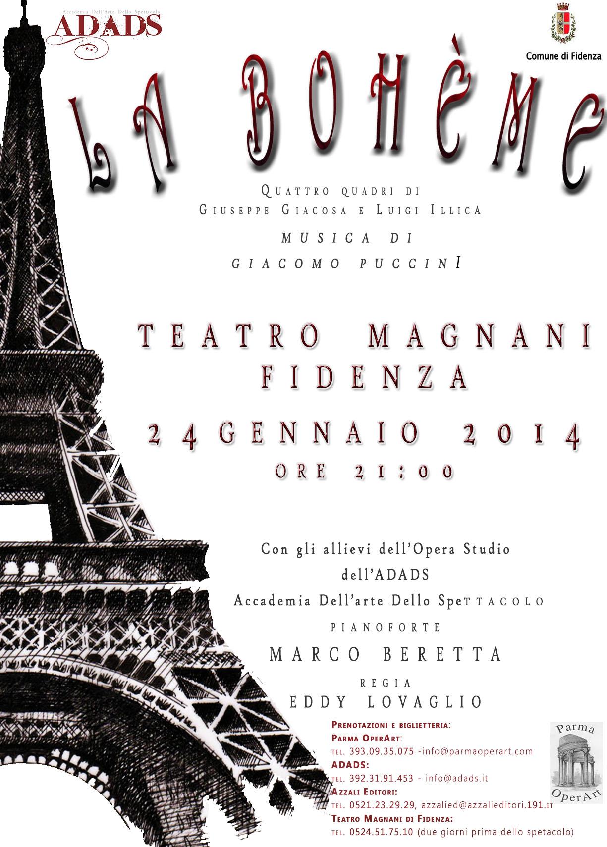 La Bohème -Teatro Magnani di Fidenza
