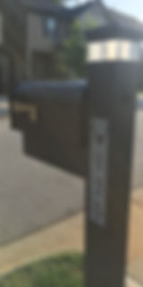 lighted mailbox address numbers on mailbox post