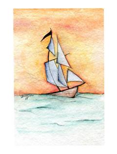 Sunset Boat