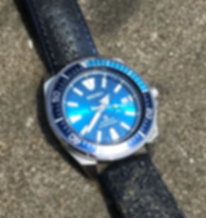 Seiko Blue Lagoon Samurai under water