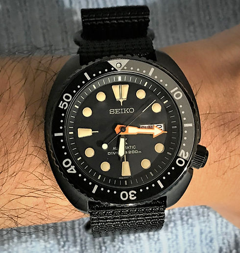 Seiko Black Turtle Wrist Patina.jpg