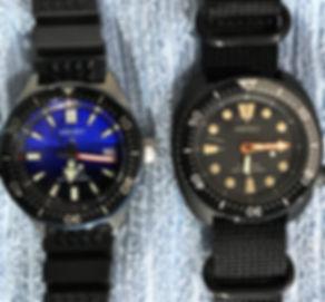 Seiko Black Turtle and 62MAS PAD