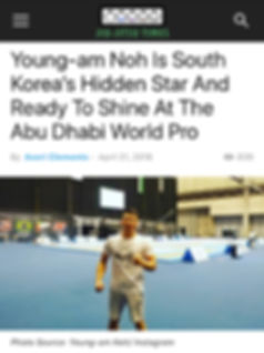 Article on Youngam Noh at the Abu Dhabi World Pro
