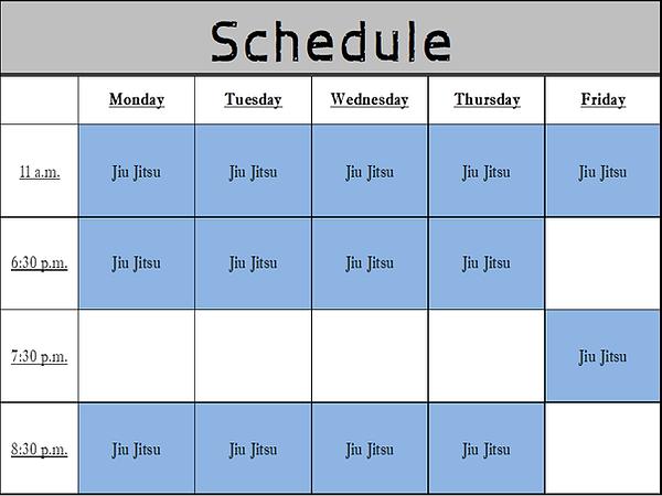 Jiu Jitsu Lab Schedule