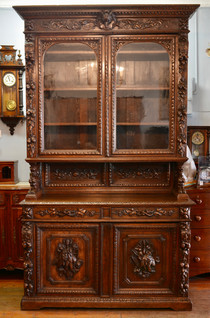 A large 19th Century carved Oak Buffet. R46995