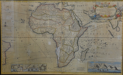 To The Right Honorable Charles Earl of Peterborow, .... Map of Africa. Herman Moll (c. 1654-1732), circa 1729. R19995
