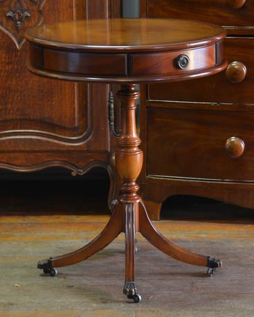 A mahogany Drum Side Table. R3995