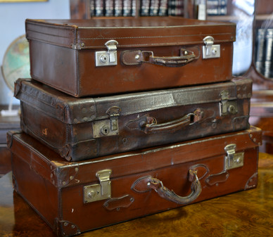Selection of vintage leather Suitcases. R1295 - R1895