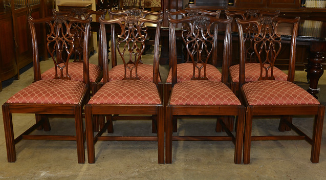 A set of eight Chippendale style mahogany Dining Chairs. R22995