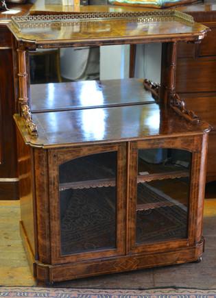 A Victorian burr walnut Music Cabinet.