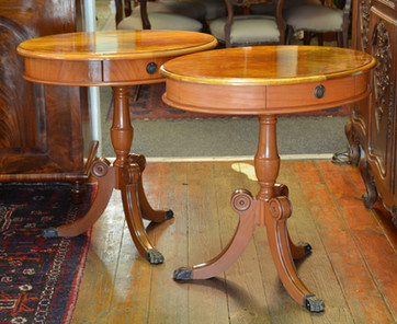 A pair of oval Side Tables. R2995 each