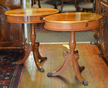 A pair of oval Side Tables. R2995 one left