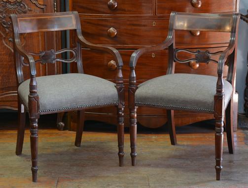 A pair of Victorian mahogany Armchairs. R3695 each