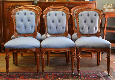 A set of six Victorian mahogany Dining Chairs. R14995