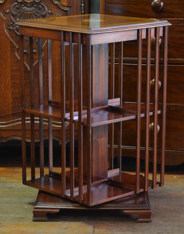 An Edwardian style mahogany Revolving Bookcase. R7995