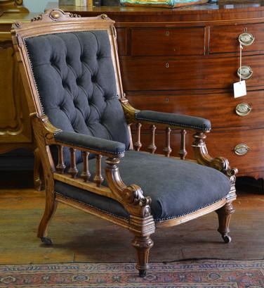 A Victorian carved oak Armchair. R6995