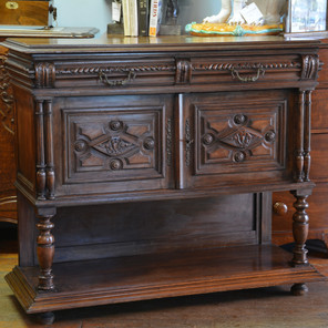 A 19th Century carved oak Side Cabinet. R11995