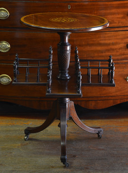 An Edwardian inlaid mahogany Chairside Revolving Bookstand. R9995