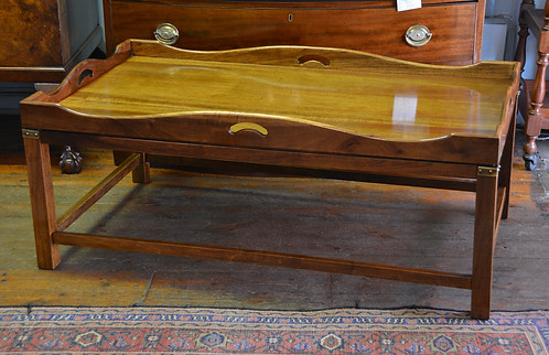 A mahogany Butlers Tray style Coffee Table. R5495