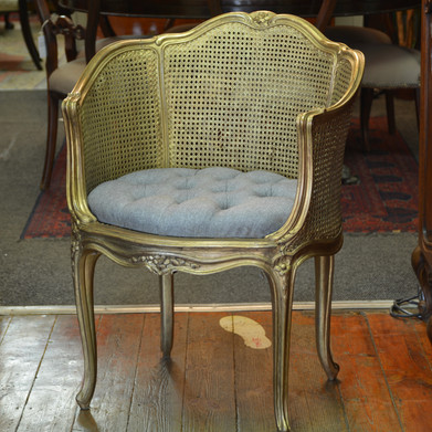 An early 20th Century French Giltwood Boudoir Chair. R4495