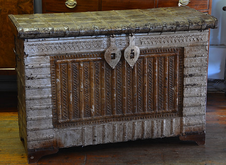 An Indian metla bound hardwood Dowry Chest. R9995