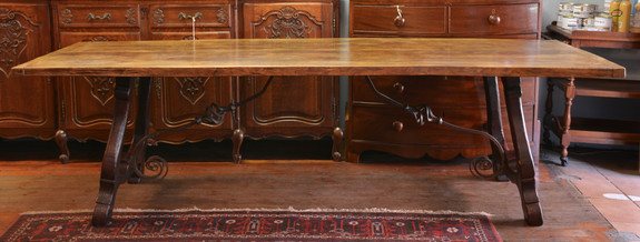 A G2 oak Spanish style Dining Table. R24995