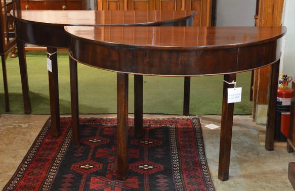 A pair of Georgian mahogany D-End Tables. R6995 each
