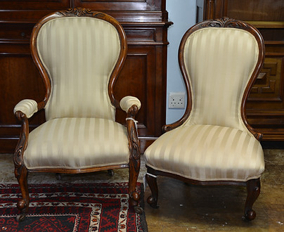 Victorian Grandfather & Mother Chairs. R4995 & R3995