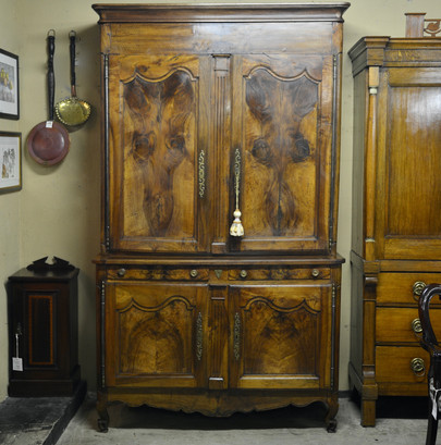 A 18th/19th Century French walnut Buffet Deux Corps.