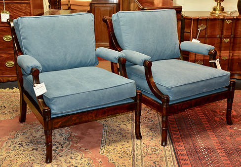 A pair of mahogany Open Armchairs. R6995 each