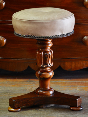 An early Victorian rosewood Adjustable Piano Stool. R3495