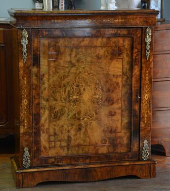 A Victorian burr walnut Side Cabinet. R12995