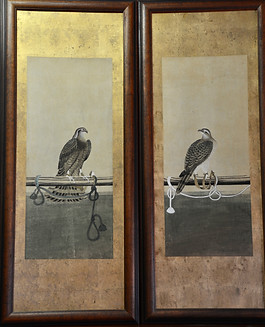 A pair of decorative Falconry Prints. R3295
