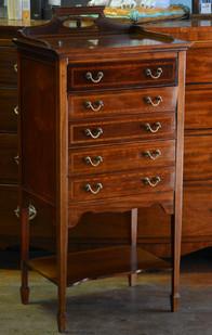 An Edwardian mahogany Music Cabinet. R6495