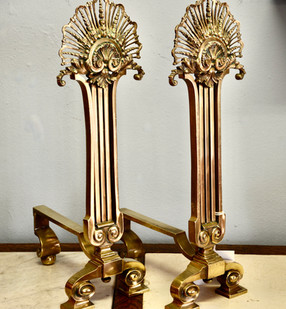 A pair of Victorian brass Andirons. R4995