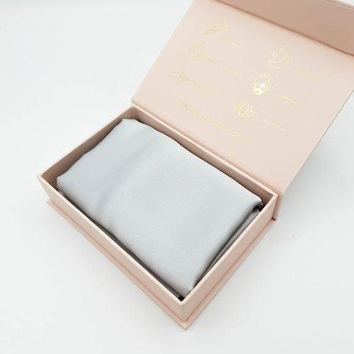 Luxury Mulberry Silk Pillowcase (Grey Silver)