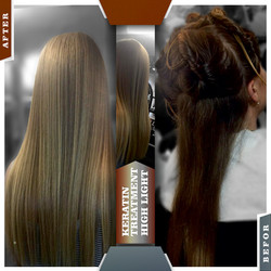KERATIN TREATMENT & HIGHLIGHT